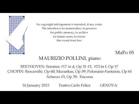 MAURIZIO POLLINI Live Recital 2015   BEETHOVEN  CHOPIN    GENOVA