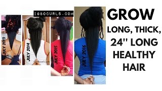 10 Tips To GROW 24 inches LONG HAIR Fast (4c Natural Hair) 5years
