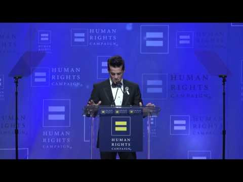 Jonathan Del Arco Speaks at the 2016 HRC Louisiana Gala