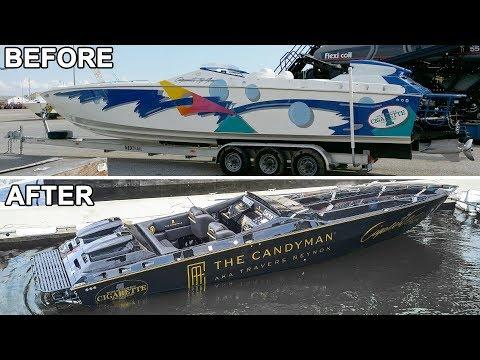 The Candymans Cigarette boat refit project
