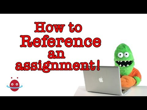 How to reference an assignment using APA
