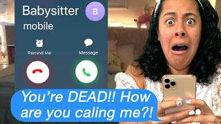 My DEAD BABYSITTER Called ME!! (Scary Text Message Story Time)