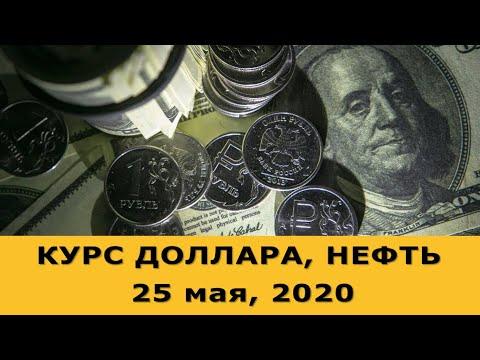 Курс доллара на сегодня. Нефть. (обзор от 25 мая 2020 года)