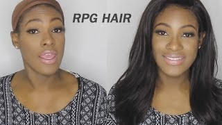How To Style My Lace Front Wig Step By Step| Rpghair.com Affordable Hair
