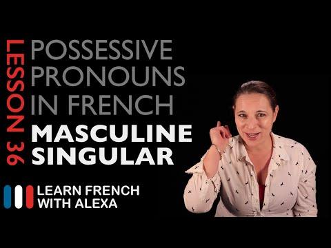 French Masculine Singular Possessive Pronouns