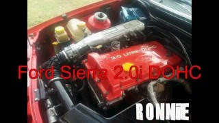 Ford Sierra 2.0i DOHC работа мотора  с монеткой