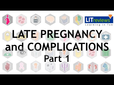 Complications in Late Pregnancy Part 01
