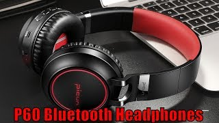 sound Intone P60 Bluetooth Headphones Wireless Support 7 Colors Glowing(link in description)