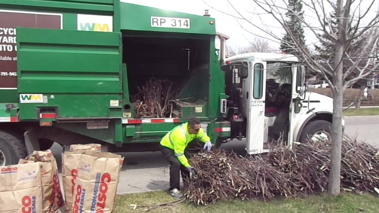 Recycling Yard Waste Toronto Canada Youtube