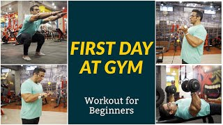 First Day at Gym  Workout for Beginners  Yatinder Singh