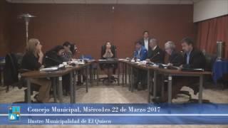 Concejo Municipal Miércoles 22 de  Marzo 2017