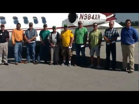 Becks Hybrids and Porco Fertilzer Plane Trip 2012 - YouTube