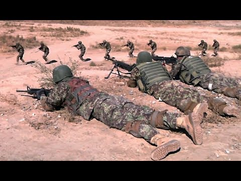 Afghan National Army Commandos training at Camp Morehead, Afghanistan