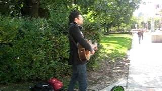 Watch Jeremy Fisher Singing On The Sidewalk video