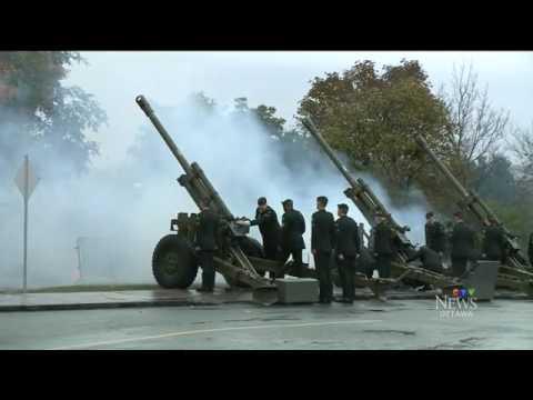 19-gun salute for French Prime Minister visit