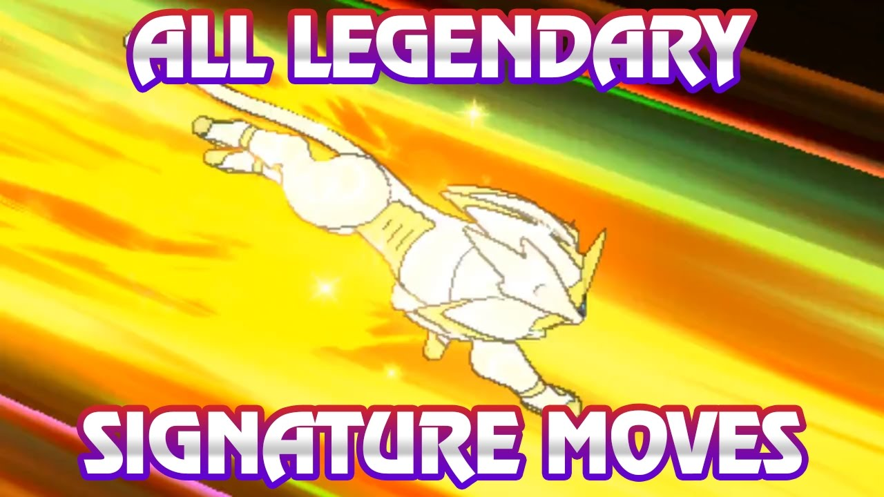 Pokemon Sun/Moon - All legendary Pokemon Signature Moves (Including  Marshadow and Magearna!)