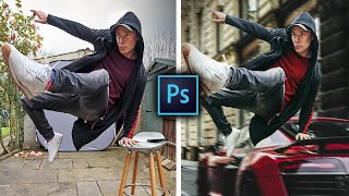 Compositing in Photoshop LIKE A PRO! Get the Hollywood ACTION HERO look in your photography! (2020)