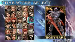 Soul Calibur Broken Destiny PSP Character Select