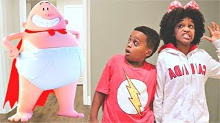 CAPTAIN UNDERPANTS vs Bad Baby Shiloh and Shasha! - Onyx Kids
