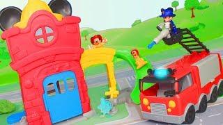 MICKY MAUS Wunderhaus: Feuerwehrmann & Feuerwehrstation | Disney Spielsachen für Kinder deutsch