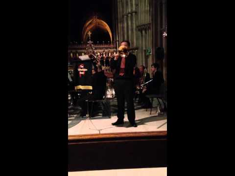 Silent Night trombone solo performed by Alan Gifford  The Staffordshire Band