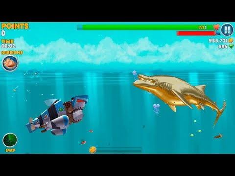 Hungry Shark Evolution Robo Shark Android Gameplay #46