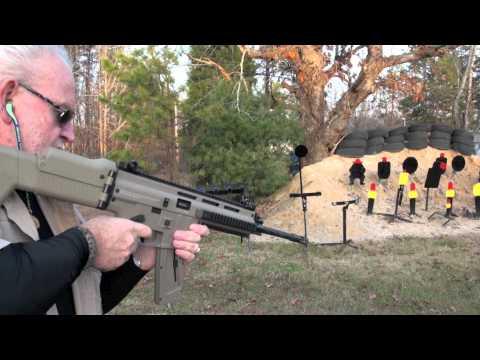 ISSC MK22 MSR .22LR SCAR Style Rifle Shooting