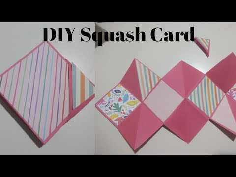 Squash Card || Unique Card Ideas || Greeting Card Ideas by Little Learners Corner