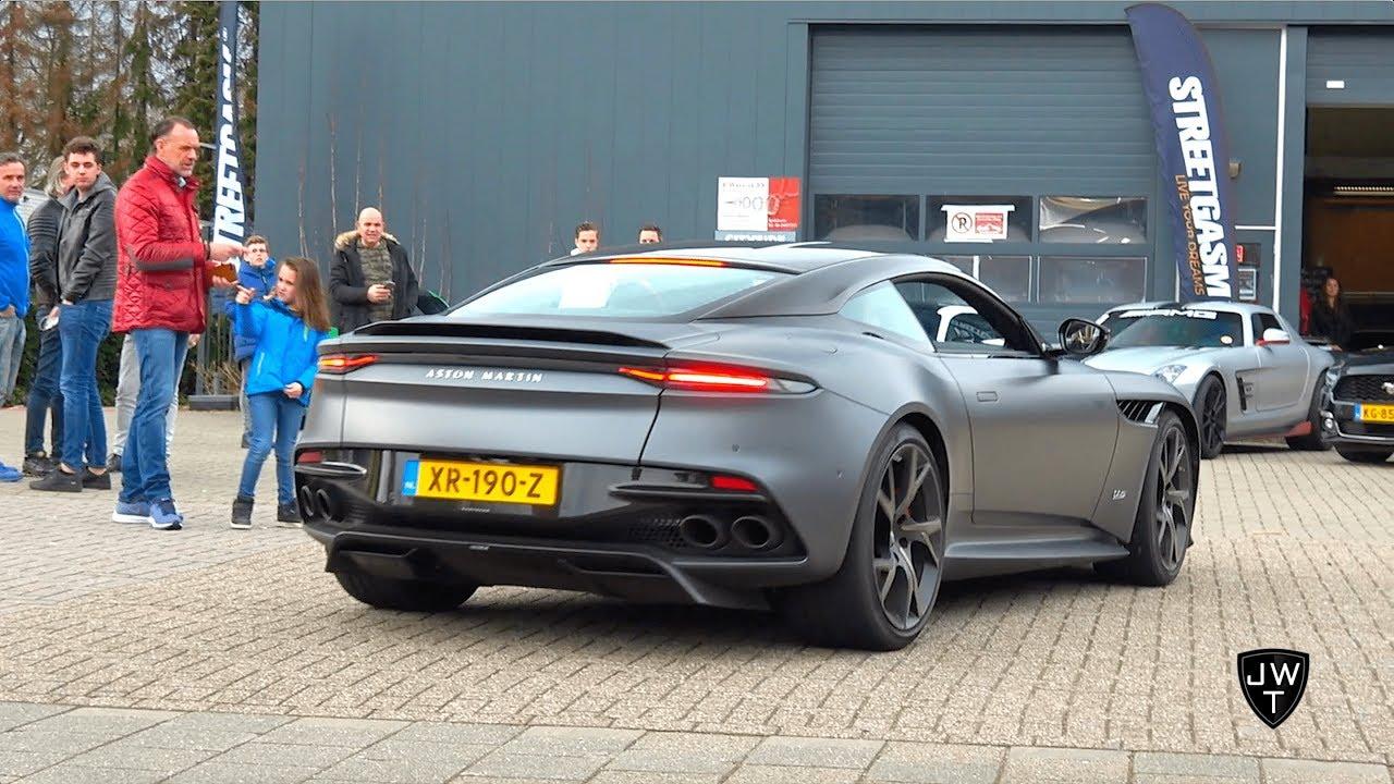 New 2019 Aston Martin Dbs Superleggera Exhaust Sounds Closer Look Youtube