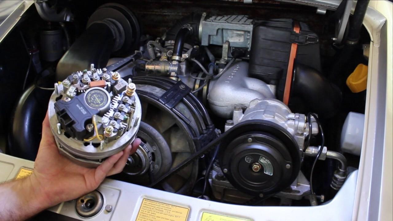 porsche 911 alternator replacement diy [ 1280 x 720 Pixel ]