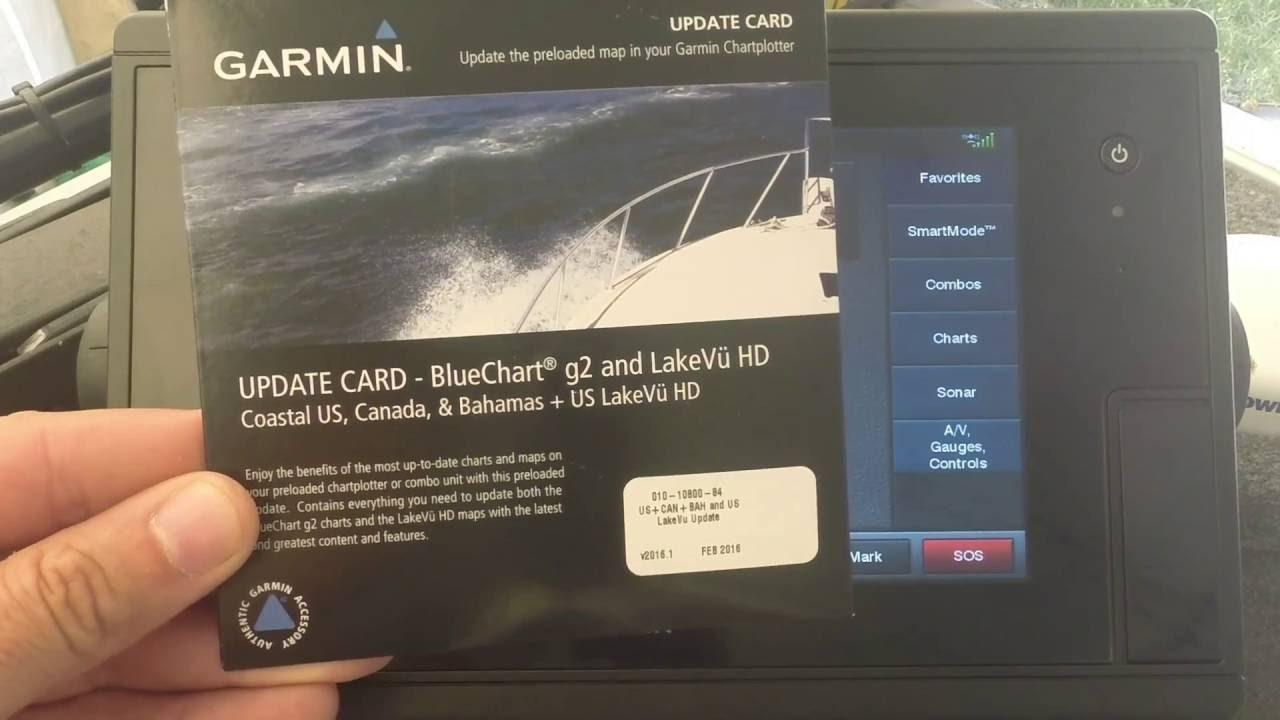 Garmin BlueChart G2 & LakeVu Preloaded Update Installation GPSMAP 7600