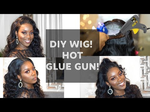 HOW TO| LACE FRONTAL WIG USING A HOT GLUE GUN!|BRAZILIAN BODY WAVE TINASHE HAIR