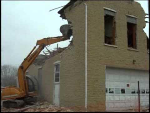Demolition of 1867 Limestone Building in Union, IL