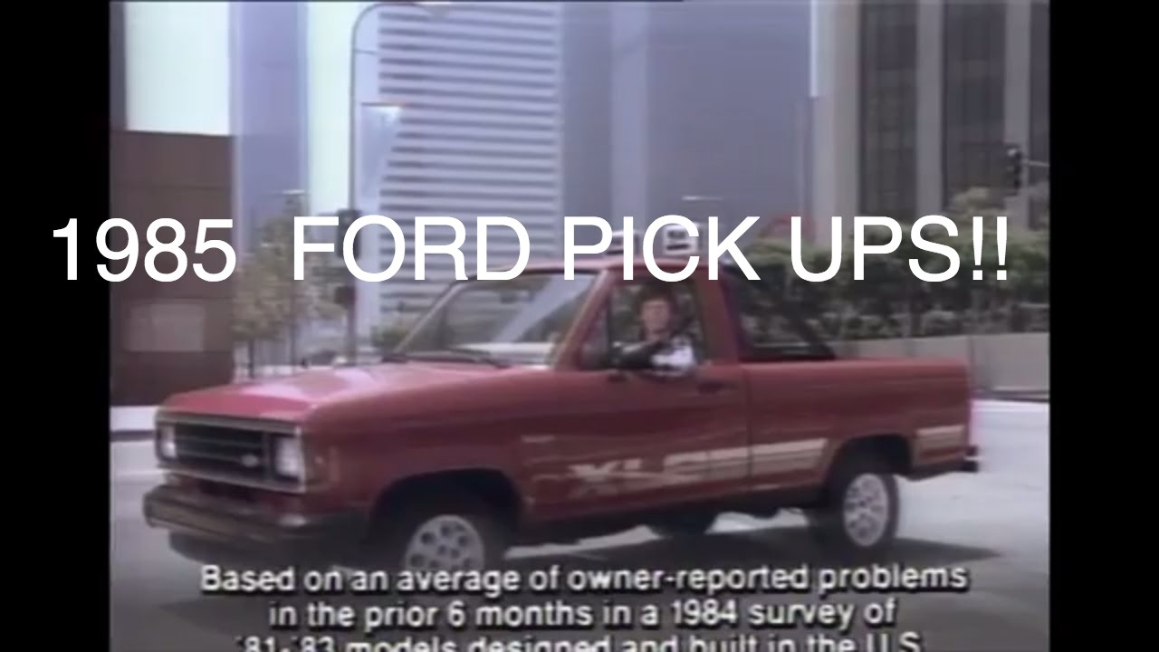 6 Old Ford Pickup Truck Commercials In 1985 only 5993 and 88