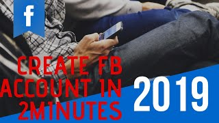 How to create Facebook account in 2minutes 100℅ free