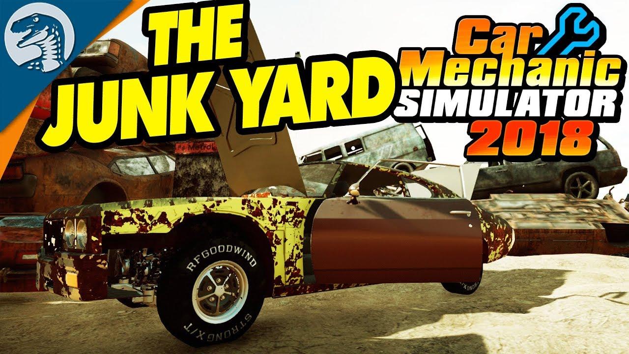 Junkyard Unlocked Rare Race Car Found Car Mechanic Simulator 2018 Gameplay