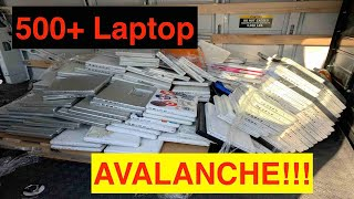 Apple Laptop Avalanche!  500+ Laptop Pickup From Recycler