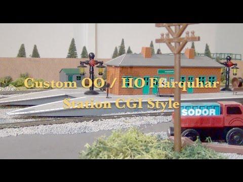 Custom OO / HO Thomas & Friends Ffarquhar Station CGI Style + SLOTLT Clip Remake
