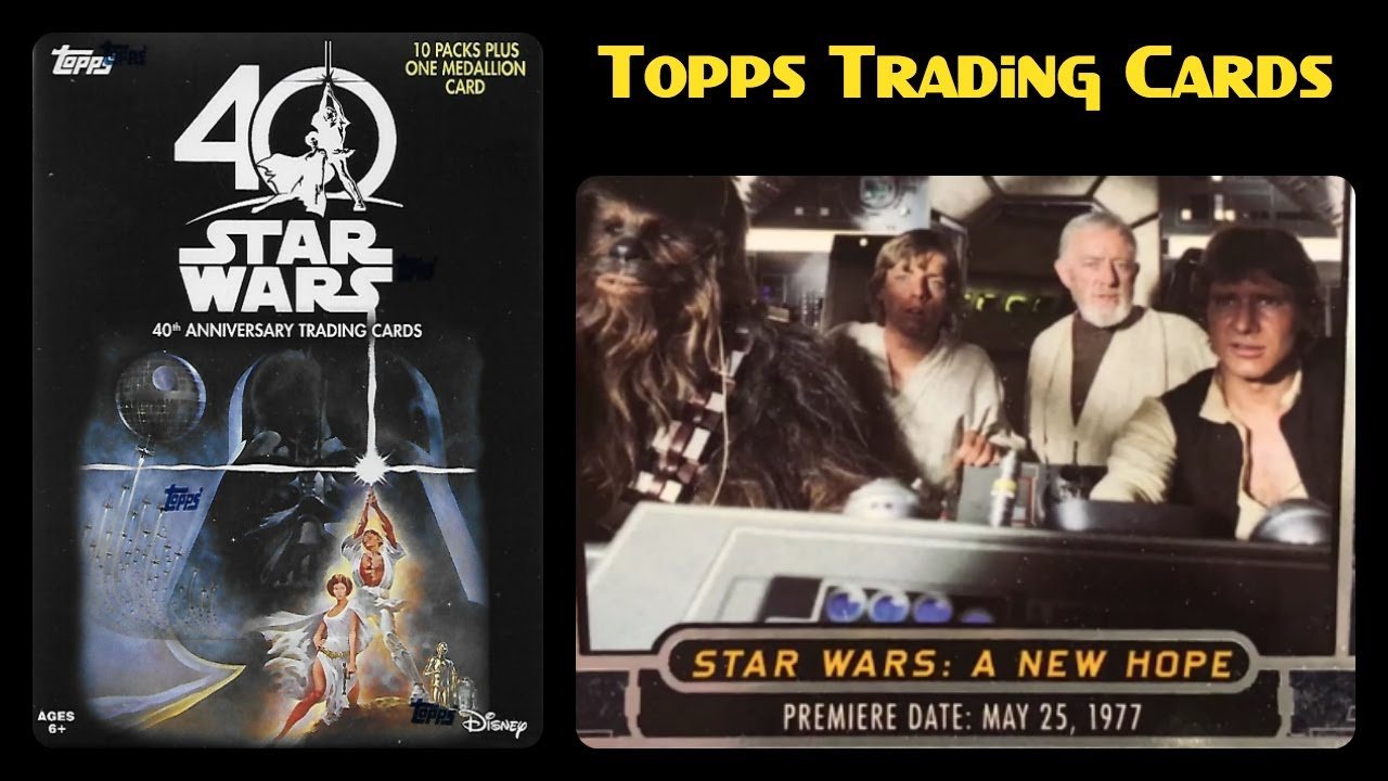 Star wars th anniversary topps trading cards starwars th