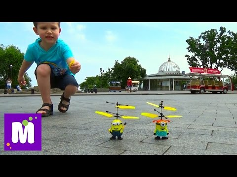 Летающий миньон, прикольная игрушка из Китая!