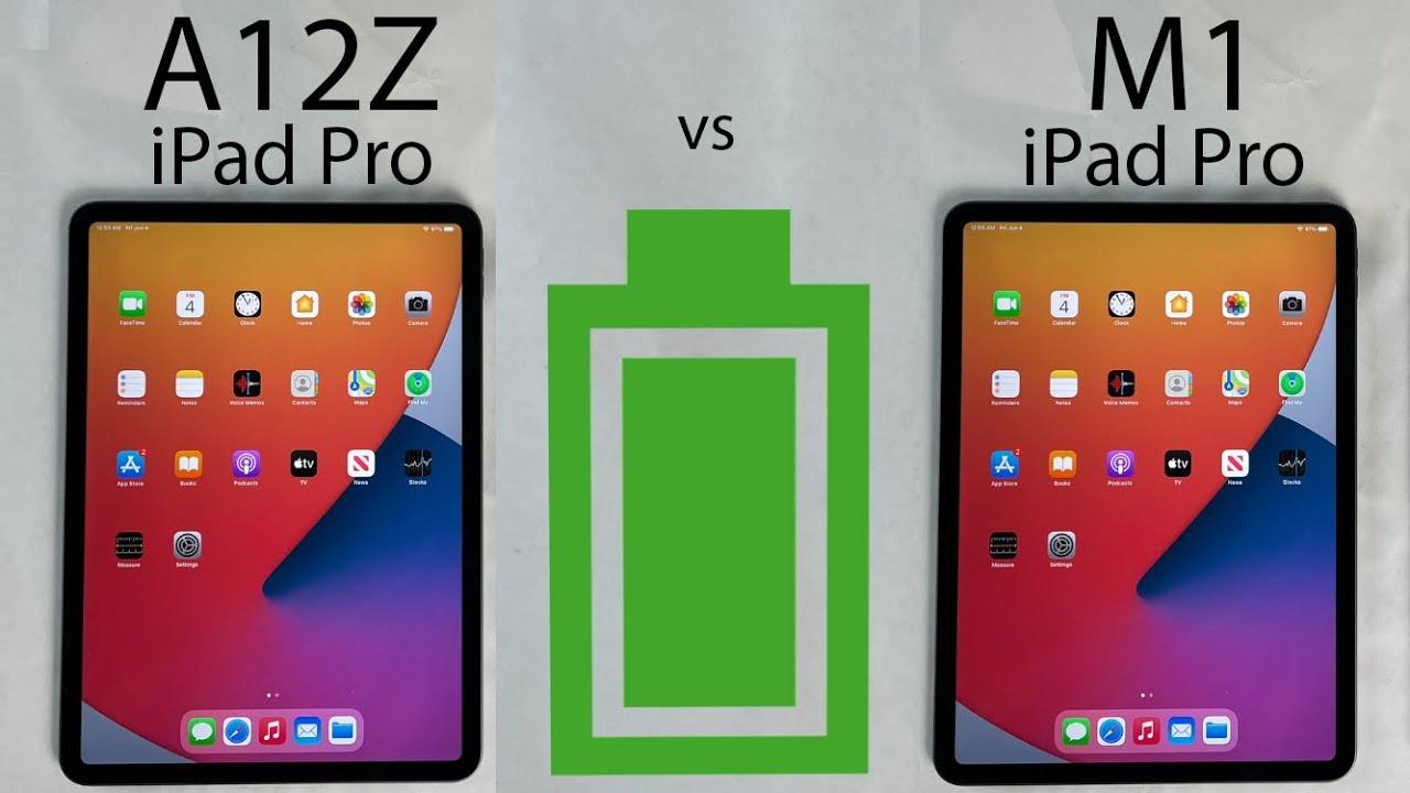 M1 iPad Pro 2021 vs A12Z iPad Pro 2020 BATTERY Test - YouTube