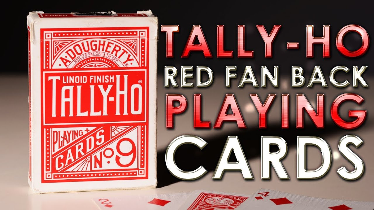 Deck Review Tally Ho Red Fan Back Linoid Finish Playing