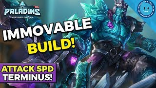 Paladins: Attack Speed Terminus Build! STRIKE FEAR IN THEIR HEARTS! (New Skin + Gameplay)