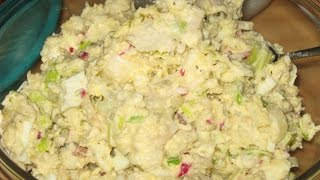 """twisted"" Potato Salad With - Bacon - Leeks - Radishes - Pickles - Eggs - Onions - Mayonnaise"