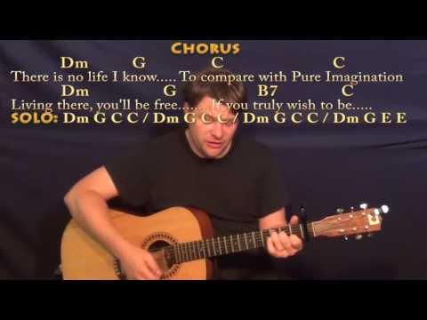 Pure Imagination Gene Wilder Strum Guitar  Lesson with ChordsLyrics  16th Strum