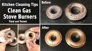 Amazing Kitchen Tips & Tricks | How to Clean Gas Stove Burners |  Kitchen Hacks | Stove Burner Clean