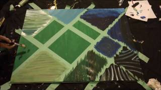 Oceanic Time Lapsed Painting