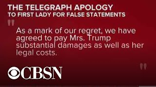 British newspaper apologizes to Melania Trump