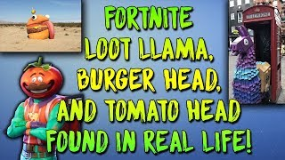 "FORTNITE LOOT LLAMAS, BURGER HEAD, AND TOMATO HEAD FOUND IN EUROPE?! ""REAL LIFE FORTNITE EXPLAINED"""