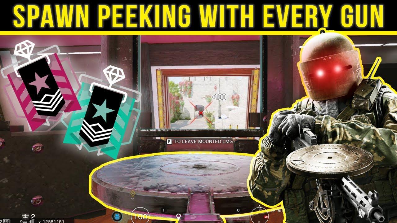 Spawn peeking with EVERY GUN in Rainbow Six Siege